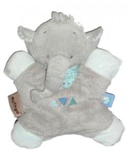 Doudou coussin Elephant gris bleu Jack Nattou