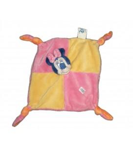 Doudou plat Minnie rose jaune bleu Disney Baby
