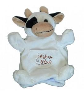 Histoire d Ours Doudou Marionnette Vache Blanche blanc noir