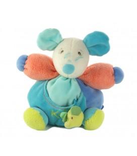 Doudou souris bleue Kaloo 20 cm Grelot