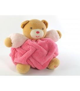 Doudou Kaloo Ours nez rose Plume 16 cm