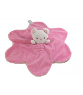 Doudou plat souris rose Luminou Jemini