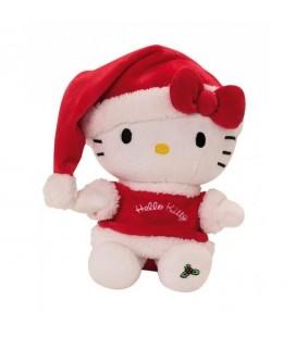 Peluche doudou Hello Kitty Pere Noel 22 cm Sanrio Jemini