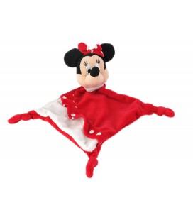 Doudou plat Minnie rouge blanc pois Disney Nicotoy