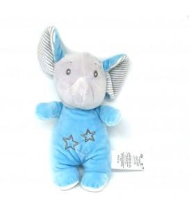 Doudou Elephant Bleu etoiles Tom et Kiddy 22 cm