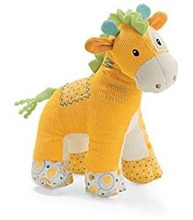 Doudou Girafe orange Gund Babygund Hopscotch Girafe Peluchette 20cm