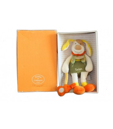 DOUDOU ET COMPaGNIE Chien orange vert HECTOR 22 cm