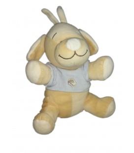 Doudou chien beige jaune pull bleu papillon Bengy 25 cm