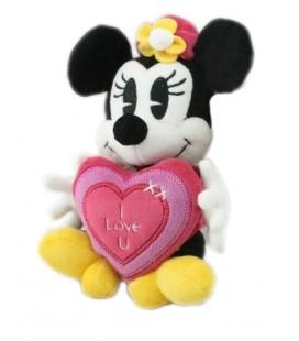 Doudou Peluche Minnie Coeur I Love U Disney Nicotoy 20 cm 587/3126