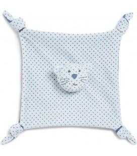 Doudou plat chat bleu etoiles Bout chou Monoprix