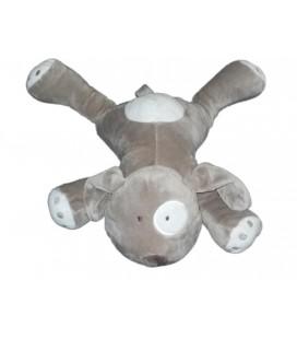 Peluche doudou Chien gris blanc Obaibi Gd Mod. 38 cm