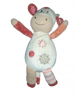 Doudou Vache orange beige Nature et Decouvertes 30 cm