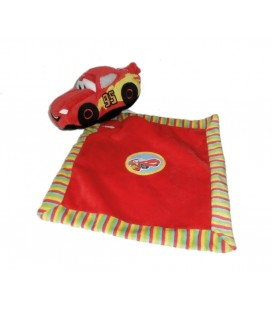 Doudou Cars Voiture Mouchoir rouge jaune Flash Mc Queen Disney Nicotoy 587/1088