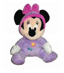 Doudou peluche Minnie Pyjama mauve soleil oiseau 26 cm Disney Nicotoy
