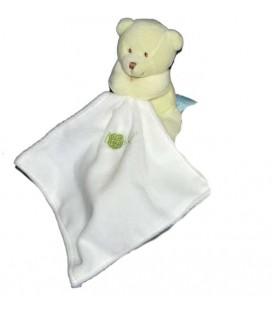 Doudou Baby Nat Ours Vert mouchoir Blanc Mon Ours Bonbon BN946