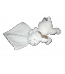 Doudou Mouton blanc 16 cm Babysun Mouchoir