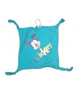 Doudou plat tissu Mickey bleu Carrefour CMI