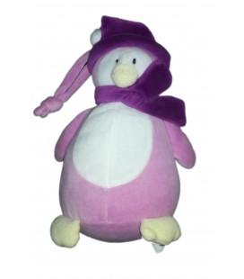 Peluche Pingouin rose Mauve violet 22 cm TOUT COMPTE FAIT
