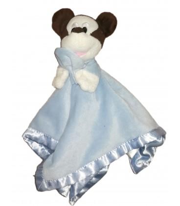 Doudou plat Mickey bleu Mouchoir Disney Baby