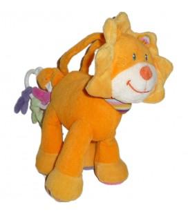 Doudou peluche Musicale Lion orange Pommette 20 cm