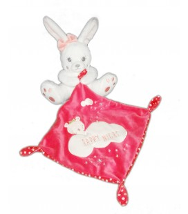 Doudou Lapin blanc Mouchoir rose Happy Night Simba 569/0408