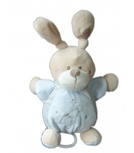 Doudou lapin bleu musical Simba etoiles 26 cm