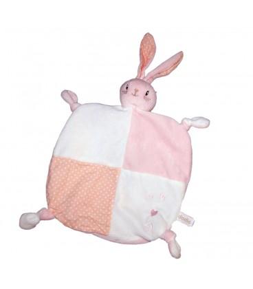 Mon doudou d amour plat lapin rose blanc coeur Dodie