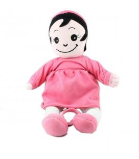 Peluche doudou poupee lutin robe rose Marese 35 cm