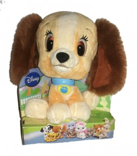 Doudou Peluche La Belle et le Clochard Grosse Tete Style Pet Shop 24 cm