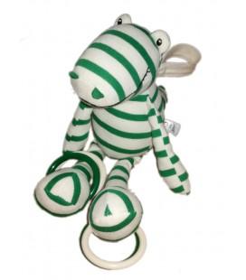 Doudou tissu Crocodile blanc vert 28 cm Jellycat
