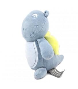 Peluche doudou dragon bleu Orchestra Premaman grelot 18 cm