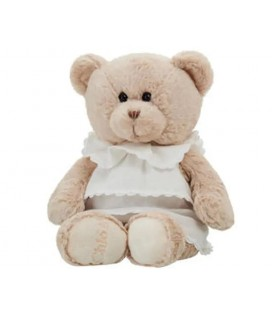 Peluche ours beige robe blanche Marionnaud 2002 Chloe 38 cm
