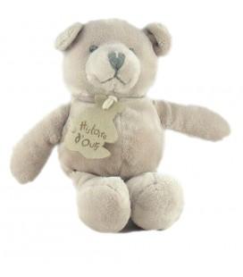 Petit doudou Ours gris Histoire d ours 18 cm