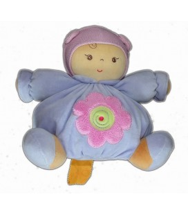 Doudou poupée poupon Chubby Baby Mauve Parme KaLOO 24 cm Patapouf