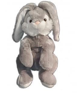 Peluche Lapin gris blanc Lascar 36 cm
