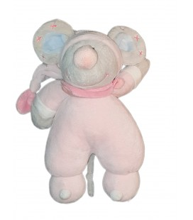 Peluche doudou Souris rose Carrefour Tex Max & Sax 30 cm