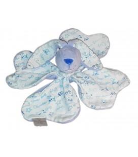 Doudou P tit Lapin fleur trefle bleu CMP