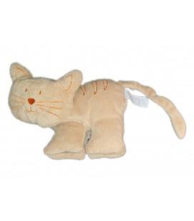 Doudou chat beige orange 22 cm Happy Horse 2004