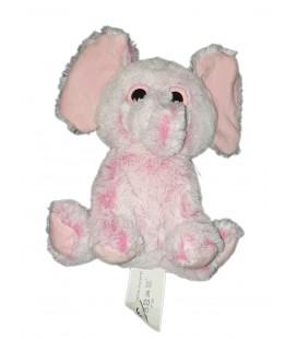 Peluche doudou Elephant rose Gifi gros yeux 25 cm
