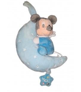 Peluche doudou musical Mickey bleu Lune Disney Baby Nicotoy