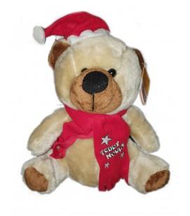 Peluche ours Noel 30 cm Teddy Nours Bonnet Echarpe