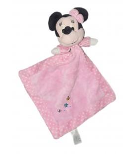 Doudou plat rose Minnie Disney Coccinelle Papillon Fleur Nicotoy
