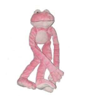 Grande peluche Grenouille rose longs bras jambes 45 cm