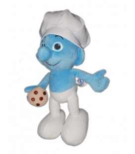 Doudou peluche SCHTROUMPF Cuisinier patissier The Smurfs Peyo 30 cm 2013
