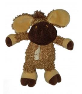 Peluche doudou cheval ane poney marron beige bouclettes 25 cm Histoire d Ours
