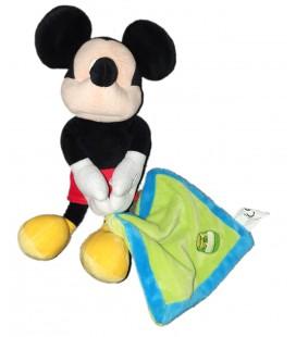 Peluche doudou Mickey Mouchoir vert couverture pot de miel Disney 32 cm PTS SRL Tommy Toys