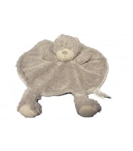 Doudou plat rond ours gris La Galleria