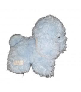 Peluche petit doudou chien bleu Boulgom Vintage 16 cm