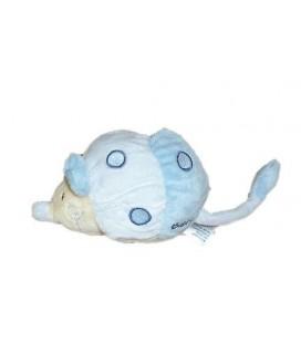 Doudou souris bleue ronds brodés - BaBYSUN - 12 cm + la queue - NEUF