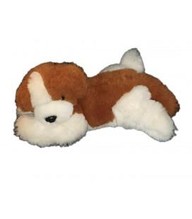 Peluche chien marron roux blanc 45 cm IKEA